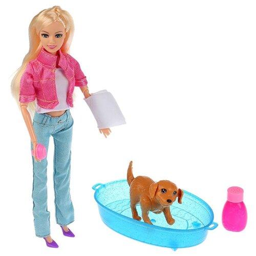 Купить Кукла Карапуз София с собакой, 29 см, B1694237-S-HU, Куклы и пупсы