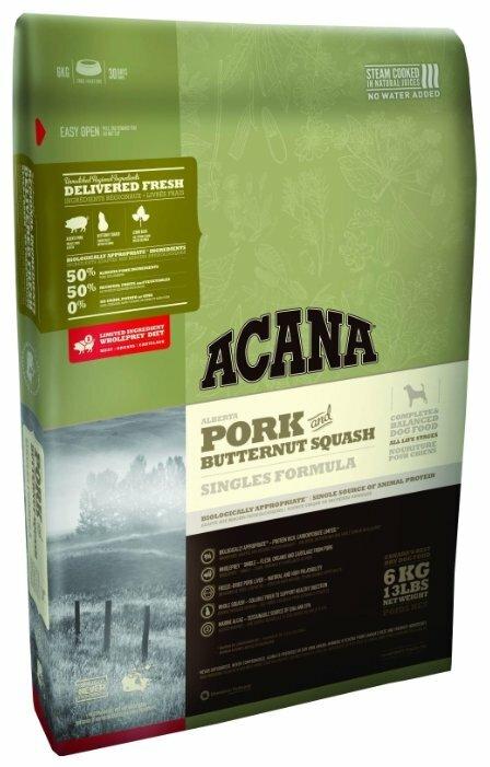 Корм для собак Acana Singles свинина с тыквой 11.4 кг