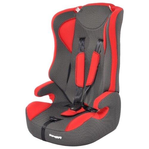 Купить Автокресло группа 2/3 (15-36 кг) Мишутка LB 513 (без вкладыша), deep red/black dot, Автокресла