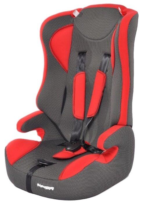 Купить Автокресло группа 1/2/3 (9-36 кг) Мишутка LB 513 RF (без вкладыша), deep red/black dot по низкой цене с доставкой из Яндекс.Маркета
