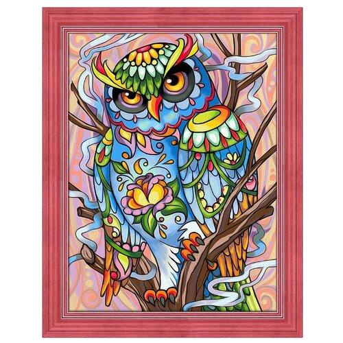 Купить Алмазная живопись Набор алмазной вышивки Красочный филин (АЖ-1610) 30x40 см, Алмазная вышивка