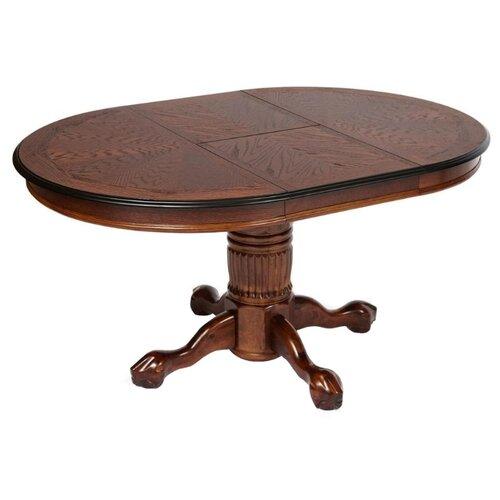 Стол кухонный TetChair Rochester STC (4260-STC), раскладной, длина в разложенном виде: 150 см, d: 106 см, темный орех