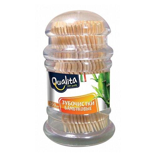 Qualita Зубочистки бамбуковые, 200 шт