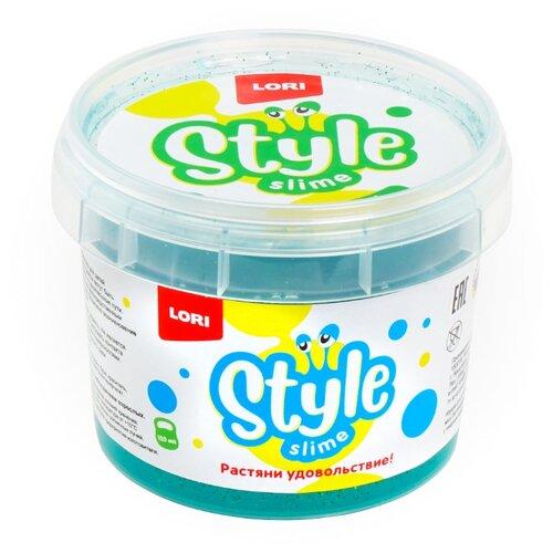 Купить Лизун LORI Style Slime блестящий с ароматом яблока морская волна, Игрушки-антистресс