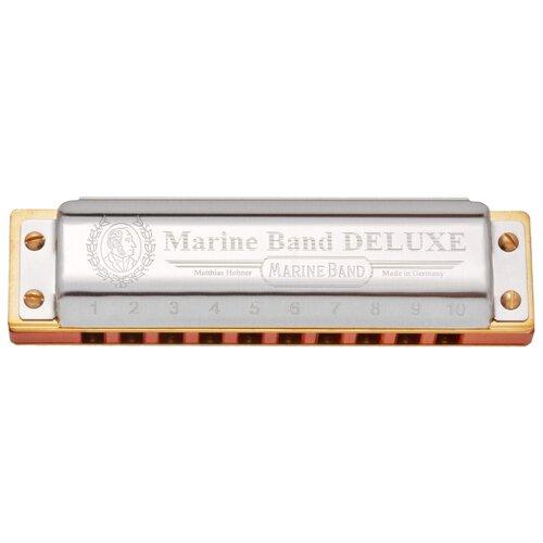 Фото - Губная гармошка Hohner Marine Band Deluxe 2005/20 (M200504X) Eb, серебристый губная гармошка hohner marine band thunderbird m201115x e low бежевый серебристый