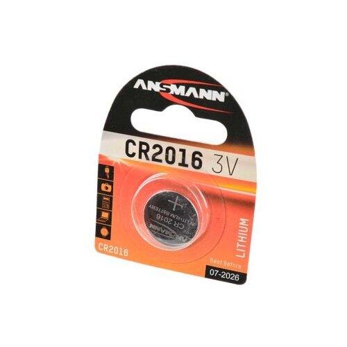 Батарейка ANSMANN CR2016 1 шт блистер батарейка ansmann cr2025 1 шт блистер