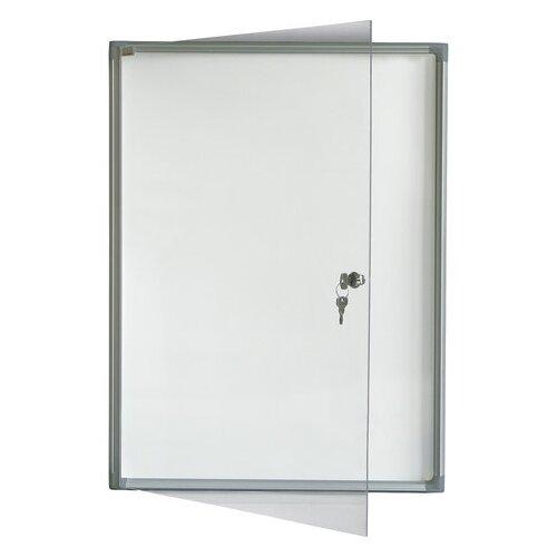 Доска-витрина магнитно-маркерная 2x3 GS44A4 (68х51 см) белый/серебристый