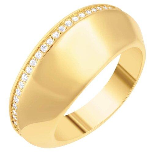 JV Кольцо из золота 585 пробы с бриллиантами 4963-YGDW-KO-YG, размер 17.5
