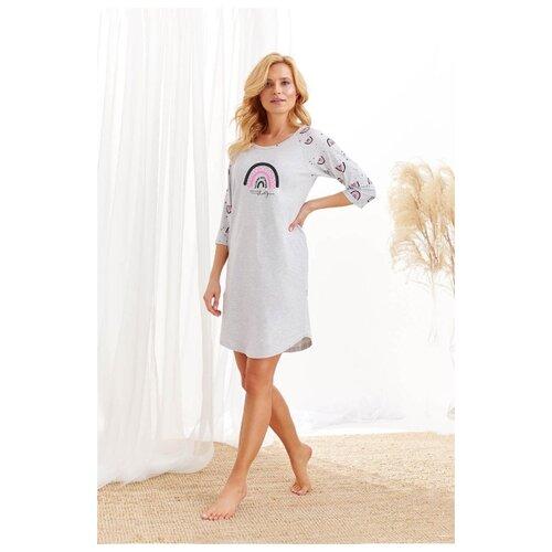 Фото - Женская хлопковая сорочка Mocca, серый, размер L сорочка taro размер l серый