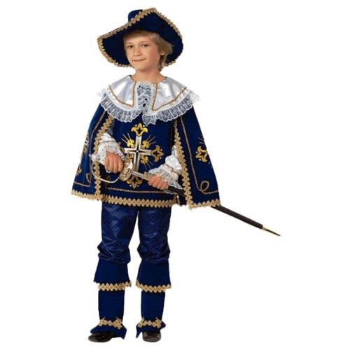 Купить Костюм Батик Мушкетер Короля (909/910), синий, размер 134, Карнавальные костюмы