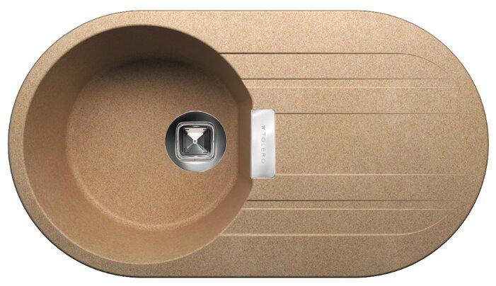 Врезная кухонная мойка Tolero Loft TL-780 78х43.5см кварцевый искусственный камень