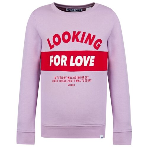 Купить Свитшот NIK&NIK размер 152, сиреневый/розовый, Толстовки