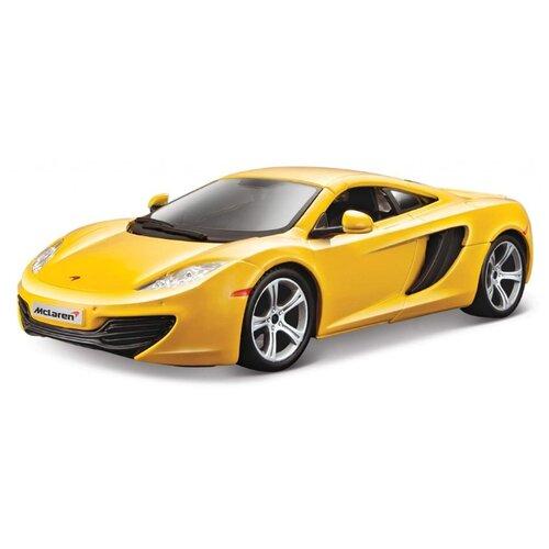 Купить Легковой автомобиль Bburago McLaren MP4-12C (18-21074) 1:24 19 см желтый, Машинки и техника