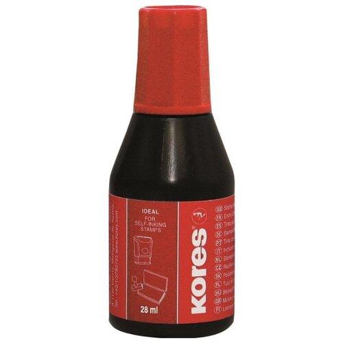 Краска штемпельная KORES красные 71324, 2 шт