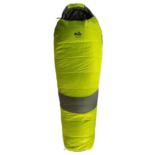 Спальный мешок Tramp Voyager Regular оливковый/серый с правой стороны