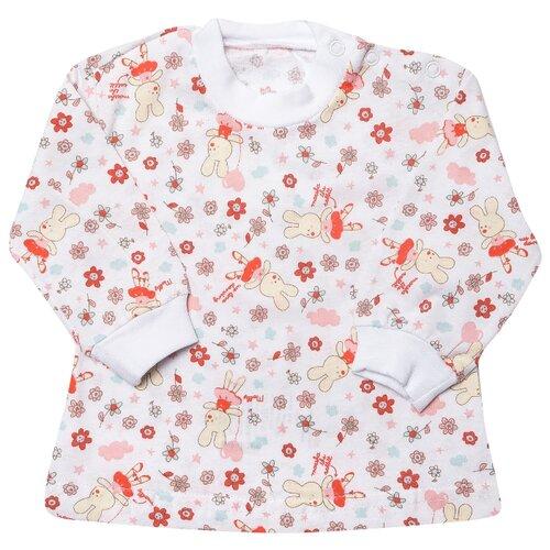 Купить Лонгслив Клякса размер 20-62, белый, Футболки и рубашки