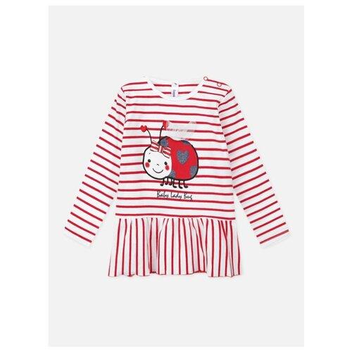 Туника playToday, размер 74, белый/красный платье oodji ultra цвет красный белый 14001071 13 46148 4512s размер xs 42 170