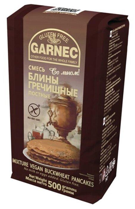 Гарнец Смесь для выпечки блины гречишные постные, 0.5 кг