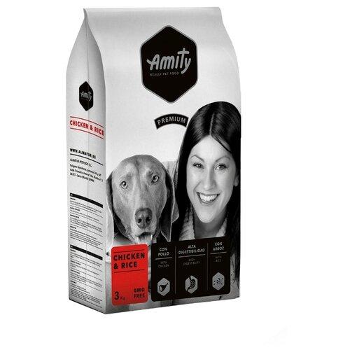 Сухой корм для собак Amity курица с рисом 3 кг