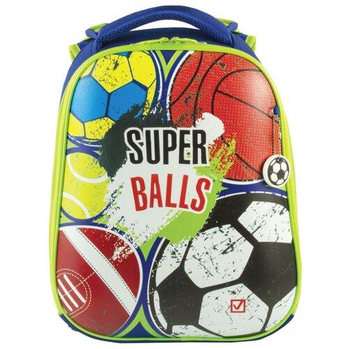 Купить BRAUBERG Ранец Premium Супер-мячи, синий, Рюкзаки, ранцы