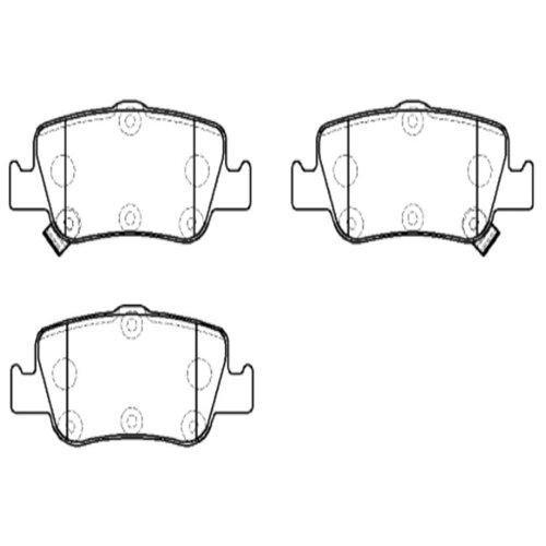 Фото - Дисковые тормозные колодки задние HONG SUNG BRAKE HP9915 для Toyota Auris, Toyota Corolla (4 шт.) дисковые тормозные колодки задние nibk pn1519 для toyota corolla toyota auris 4 шт