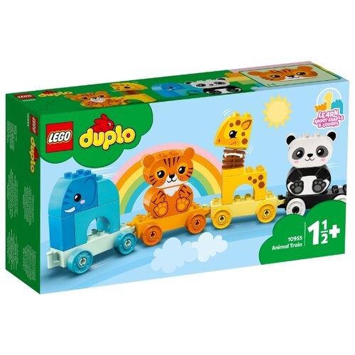 Фото - Конструктор LEGO DUPLO 10955 Creative Play Мой первый поезд для зверей конструктор lego duplo my first поезд для животных 10955