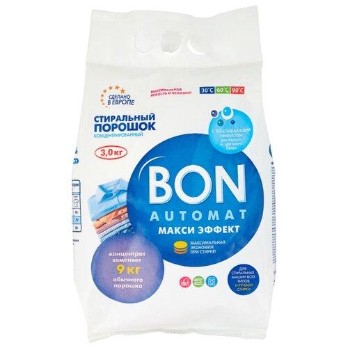 Стиральный порошок BON Макси эффект (автомат) 3 кг пластиковый пакет стиральный порошок sandokkaebi se plus 3 3 кг пластиковый пакет