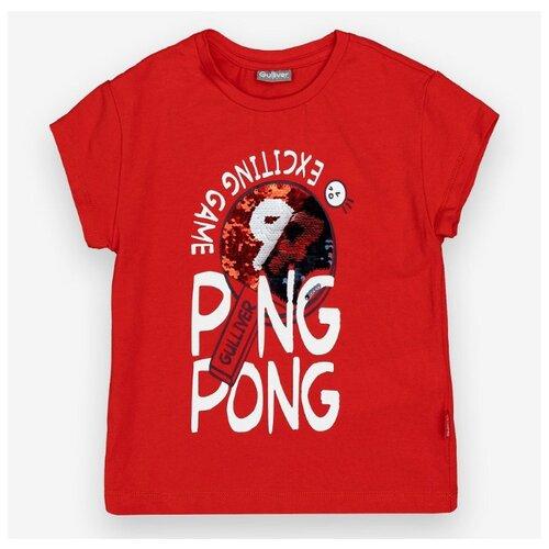 Футболка Gulliver размер 104, красный футболка gulliver размер 104 красный