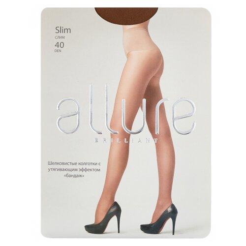 Колготки ALLURE Brilliant Slim 40 den, размер 3, glase (золотистый) колготки allure brilliant vista 40 den размер 3 glase