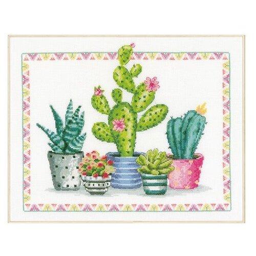 Купить Vervaco Набор для вышивания Уголок с растениями 36 х 30 см (PN-0174387), Наборы для вышивания