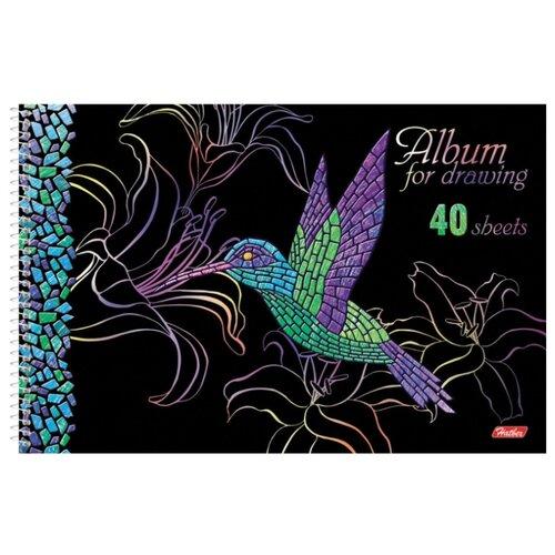 Купить Альбом для рисования Hatber Мозаика 29.7 х 21 см (A4), 100 г/м², 40 л., Альбомы для рисования