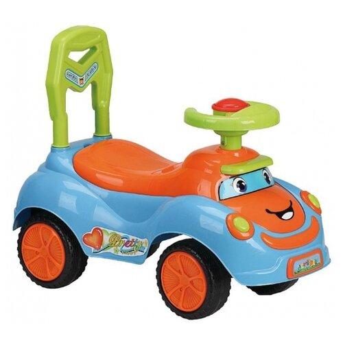 Купить Каталка-толокар Наша игрушка Ралли (zxl19110601-38) голубой/оранжевый, Каталки и качалки