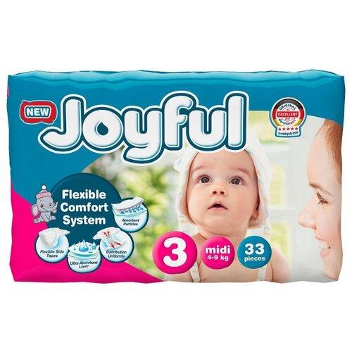 Купить Joyful подгузники 3 (4-9 кг) 33 шт., Подгузники