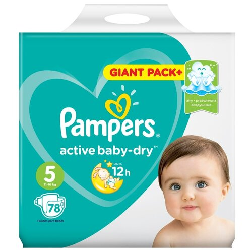 Pampers подгузники Active Baby-Dry 5 (11-16 кг) 78 шт. подгузники pampers active baby dry 5 11 16 кг 60 шт