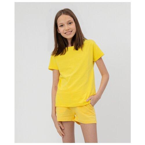 Купить Футболка Button Blue размер 140, желтый, Футболки и майки