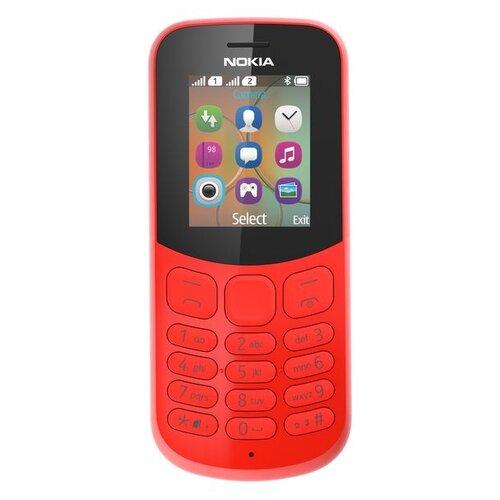 Телефон Nokia 130 Dual sim (2017) красный (A00028616)