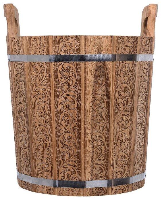 Банные штучки Запарник с нержавеющей вставкой Цветочный орнамент 20 л