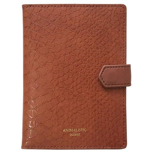 Обложка для паспорта, 100х135 мм, иск. кожа Animalistic IPC052/b...