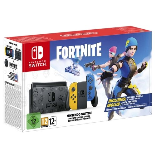 Игровая приставка Nintendo Switch Особое издание Fortnite желтый/синий + Fortnite