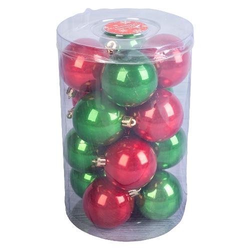 Фото - Набор шаров Зимнее волшебство Цветной глянец 325992, зеленый/красный, 20 шт. набор стеклянных шаров рождественские сны 60 мм 20 шт