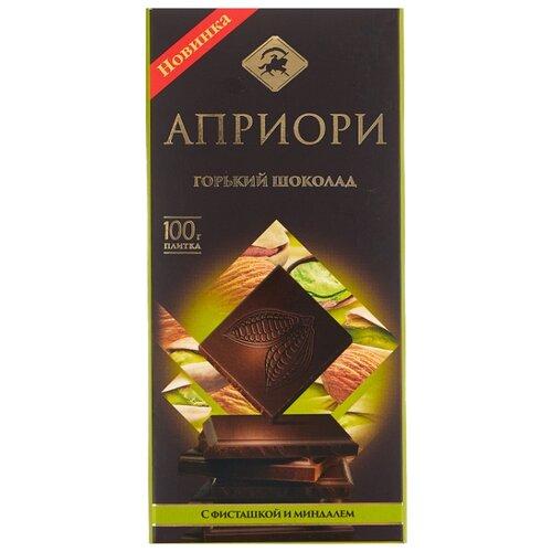 шоколад вдохновение горький с миндалем 75% 100 г Шоколад Априори горький с фисташкой и миндалем, 100 г