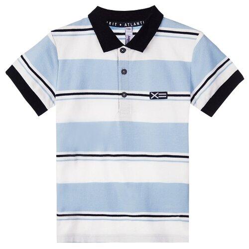Купить Поло playToday размер 134, голубой/белый, Футболки и майки