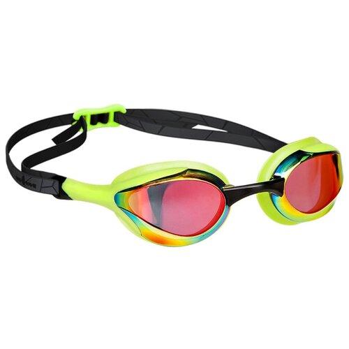 Очки для плавания MAD WAVE Alien Rainbow green/black очки для плавания mad wave triathlon azure clear black