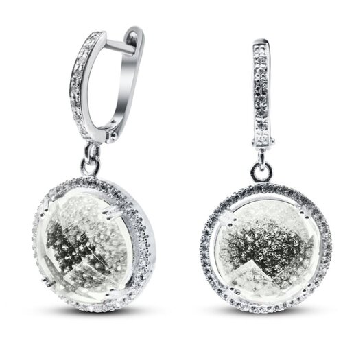 Silver WINGS Серьги из серебра куб.цирконий, смола ювелирная 22b8198olv-136-248