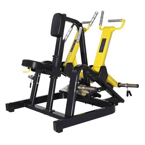 Тренажер со свободными весами Bronze Gym XA-06 черный/желтый верхняя тяга bronze gym xa 07