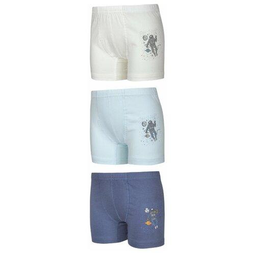 Купить Трусы BAYKAR 3 шт., размер 170/176, голубой/синий/молочный, Белье и пляжная мода
