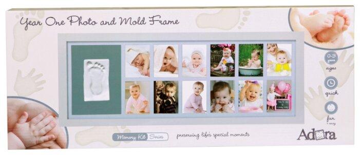 ADORA Memory Kit - Рамка для детского отпечатка 12 месяцев белая (NP067)