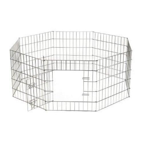 Вольер для собак Beeztees Puppy ren exercise 8-panels 715761 60х120х91 см серый