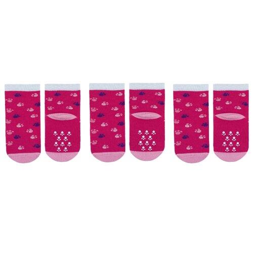 Купить Носки НАШЕ комплект 3 пары размер 20 (18-20), малиновый