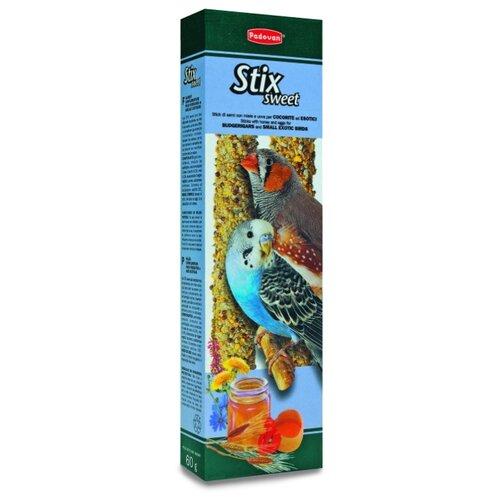 Лакомство для птиц Padovan Stix Sweet для попугаев и экзотических птиц с медом и яйцом 80 г